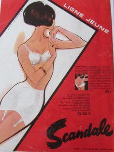 Scandale Gaine Soutien Gorge MO 193 Mode Publicite Ancienne   eBay