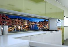 Küchenrückwand streichen ~ Mehrteilige sonnengelbe glas küchenrückwand von ihrer