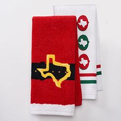 "Texas Santa Belt Kitchen Towel Set- 2 Piece- 16.5"" x 26"" St. Nicholas Square http://www.amazon.com/dp/B019KJPQSW/ref=cm_sw_r_pi_dp_QvUdxb1HXEFX5"