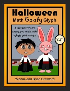For 3rd and 4th grade - Students will create a vampire and if they get an answer wrong, they might make a fluffy, pink bunny! $