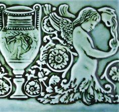 Angels and Urn - Handmade Tile by lesperancetile #etsy #etsymudteam $38