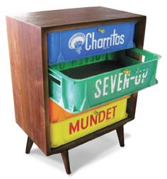 A original bedside table. Maybe for your socks...