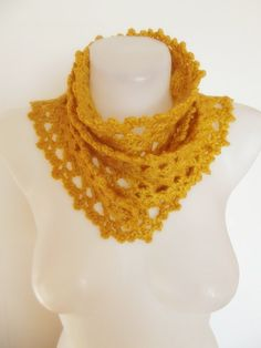 hand crocheted infinity scarf lariat necklace  by smilingpoet, $20.90