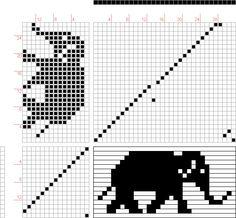 draft image: elephant, public-domain clip art, 27S, 15T M Design Logo, Public Domain Clip Art, Pattern Drafting, Dancers, Crochet Patterns, Elephant, Weaving, Creatures, Image