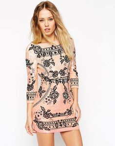 Image 1 ofNeedle & Thread Embellished Embroidery Ombre Dress