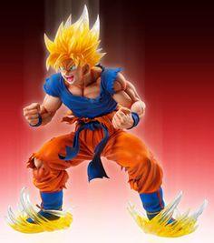 Dragon Ball Kai - Son Goku SSJ - Super Figure Art Collection - 1/8 - Ver. 2 Clear Hair Ver. (Medicos Entertainment)