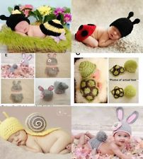 crochet newborn costumes | Cute Baby Infant Beanie Costume Sets Photo Props Crochet Animal 3-6 ...