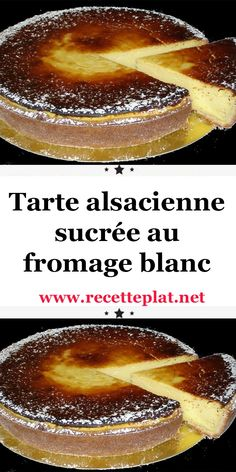 Sweet Alsatian tart with cottage cheese - Tarte - coffee Recipes Cheese Pastry, Cheese Tarts, Fall Recipes, Snack Recipes, Dessert Recipes, Yogurt Cake, Coffee Dessert, Fancy Desserts, Ice Cream Recipes