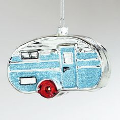 One of my favorite discoveries at WorldMarket.com: Glass Retro Camper Ornament