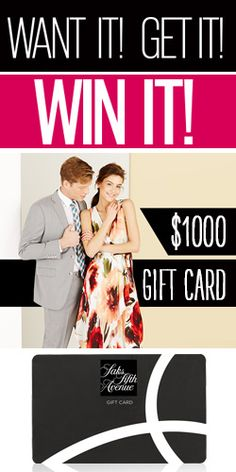 Win A $1000 SAKS Fifth Avenue OFF 5th Gift Card