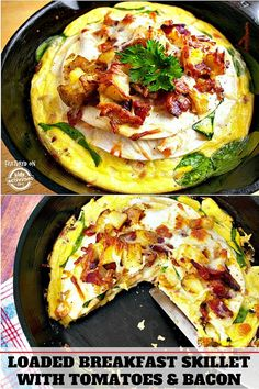 Loaded Breakfast Skillet With Tomato and Bacon