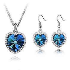 Nice Alloy With Crystal / Rhinestone Women's Jewelry Set Including Necklace,Earrings – USD $ 9.49
