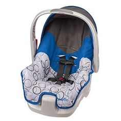 Infant Car Seat Newborn Baby Carrier Rear Facing Safety Seats Blue and Grey #Evenflo