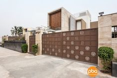 A SAFE HAVEN-Modern Contemporary House   PBA & Designs - The Architects Diary Door Gate Design, Foyer Design, Facade Design, House Design, Modern Villa Design, Modern Contemporary Homes, Contemporary Interior Design, Boundry Wall, Compound Wall Design