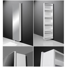 Igma Mirrored Rotating Shoe Storage Cabinet In White Finish: Mirror And White Features : •Rotating shoe cabinet with a mix of white & mirror fronts •Quality full length glass Mirror f...