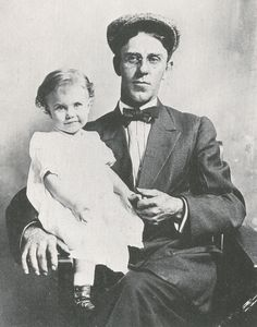 18-month-old Ginger Rogers with her father, William Eddins McMath