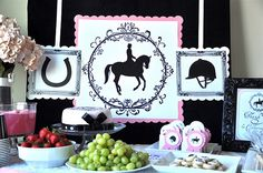 english horseback riding party  styled for a client by CREATIVE JUICE  vendor: Traylor Made Treats
