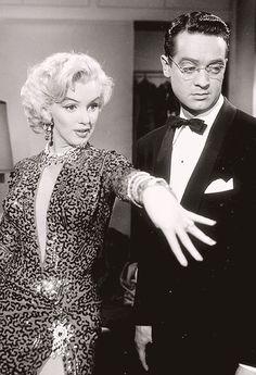 """Marilyn Monroe in """"Gentlemen Prefer Blondes"""" 1955"""