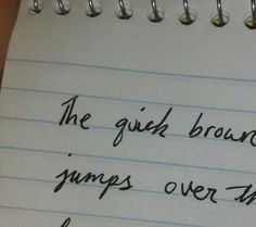 I wrote the word jump in cursive perfectly.