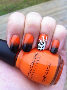 submitted by tuuuba-girl Happy Halloween! Halloween Nails, Fall Halloween, Happy Halloween, Halloween Costumes, E 10, Fun Nails, Holiday Fun, Finger, Nail Designs