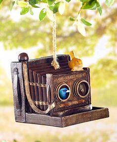 Birdhouses Antinque Phone Camera Projector Garden Decor Ceramic Birdhouse Jute #Unbranded