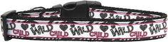 Wild Child Nylon Ribbon Collar (Multiple Sizes Available)