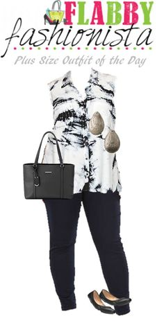Plus Size Outfit of the Day – Black and White