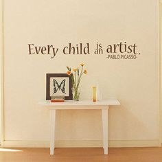 MairGwall Kids Wall Vinyl Baby Wall Decals Every Child is an Artist Home Decor Playroom Art DecorationBlack Small >>> More info could be found at the image url. (Note:Amazon affiliate link)