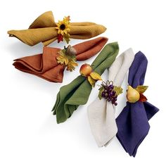 Fall Tableware Napkin Rings...love these and should make them for Thanksgiving!