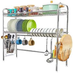 New HEOMU Over The Sink Dish Drying Dish Drainers Kitchen Counter Made Length Adjustable Stainless Steel online - Totoppremium Kitchen Cutlery, Kitchen Storage, Kitchen Decor, Kitchen Design, Kitchen Space Savers, Bulthaup Kitchen, Boffi, Cutlery Holder, Amigurumi