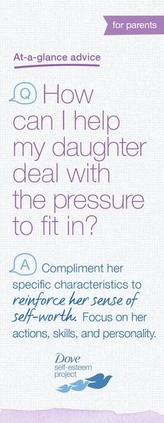 Remember, there is a phase when fitting in is the most important thing for a girl. Even in those moments, you can help your daughter identify what makes her unique and the way she contributes to friendships. It can give her the confidence to be her own beautiful self as well as recognize and appreciate diversity in others. For more info—head to www.pinterest.com/selfesteem. #SelfEsteemProject