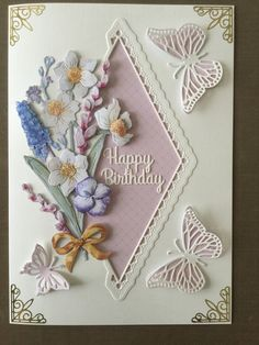 Using the Tattered Lace summer fragrance collection lace wedding card Butterfly Cards, Flower Cards, Cards For Friends, Friend Cards, Tattered Lace Cards, Shaped Cards, Create And Craft, Heartfelt Creations, Wedding Cards