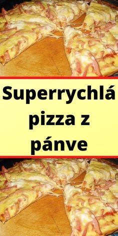 Superrychlá pizza z pánve Super Pizza, Hawaiian Pizza, Food And Drink, Pasta, Beef, Chicken, Dinner, Recipes, Halloween