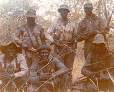 Rhodesian Selous Scouts during a cross border raid, 1970s.