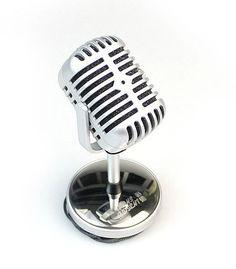 USB Retro Designed Microphone - Speaker