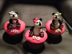 Panda cake or cupcake topper by Toppers4you on Etsy