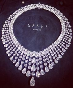 Graff ~ Round & Pear Shape Diamond Necklace with 378 Diamonds and 147.71 Carats