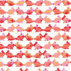 Michael Miller - CR6161 rabbit repeat cynthia rowley kids oh baby animals rabbits bunnies pink peach coral