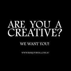 Are you Creative? We want YOU!  RMK Journal was launched earlier this year. The NEW independant online journal showcases and promotes the rich diversity of art and design within creative communities. Giving creative talent a platform to tell their story with our networking tools and digital displays. A creative voice with a creative dose of reality!  We are working hard to make sure our content celebrates all creativie talent of all industries. Submissions are open to all creators…