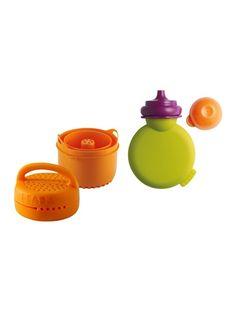 Beaba Coffret Accessoires Babycook Sorbet - 1 Boule Saveur Verte + 1 Rice Cooker Orange + 1 Babypote Vert