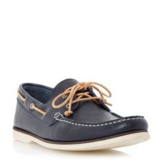 Bertie Battleship Slip On Casual Boat Shoes, Navy