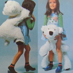 vintage FLOPPY the POLAR BEAR sewing pattern 70s by bekabeka75, $7.00
