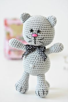 Another free amigurumi pattern There is a new design in my free patterns collection. Ive named it Nosy kitty. Actually its a modification of Funny Bunny. With changing the position of eyes adding different ears and tail you will get an entirely different toy. Cute isnt it?!