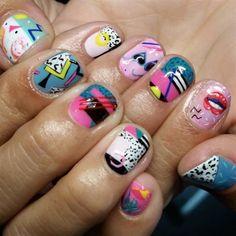 By Adreanna Corrales New Nail Art, Nail Art Diy, Cool Nail Art, Gel Designs, Nail Art Designs, Kawaii Nail Art, Abstract Nail Art, Great Nails, Top Nail