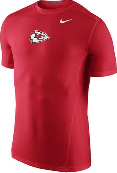 Whether you're cheering on the Kansas City Chiefs at the stadium or at the gym, this tee will keep you as cool as your style. This Nike NFL Hypercool t-shirt has a vibrant logo that tells everyone where your loyalties lie. Crew neckline Short sleeves Screen print team logo at front Regular fit Tagless Polyester Machine washable