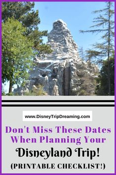 Wondering when to book dining? When to buy MaxPass? Let me help take the confusion out of your Disneyland trip planning with this printable checklist! Disneyland Couples, Disneyland Food, Disneyland California, Disney California Adventure, Disney Resorts, Disney Vacations, Disney Trips, Downtown Disney, Confusion