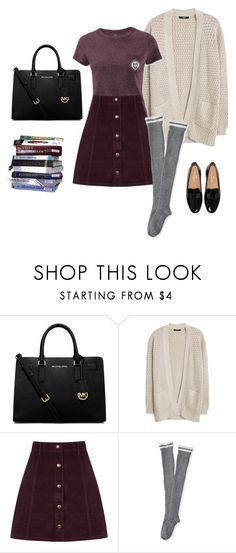 A fashion look from November 2015 featuring knit top, pocket tees and purple skirt. Browse and shop related looks. Fall College Outfits, College Style, Winter Outfits, Summer Outfits, Casual Outfits, Cute Outfits, Student Fashion, College Fashion, Purple Skirt