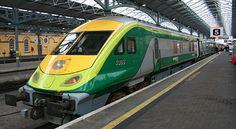 An express to Cork, seen at Dublin's Heuston station Rail Train, By Train, Train Tracks, Dublin Ireland, Ireland Travel, High Speed Rail, Train Times, Corporate Identity Design, Rolling Stock