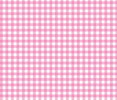 """1/2"""" Gingham - Medium Pink fabric by seweccentric on Spoonflower - custom fabric"""