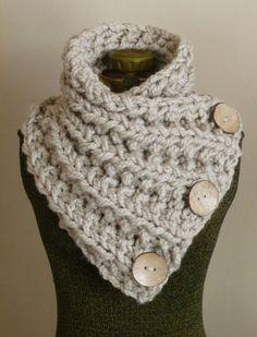 LE LANCASTER foulard trapu à la main en tricot écharpe en Tan